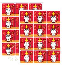 Naamstickers Sinterklaas