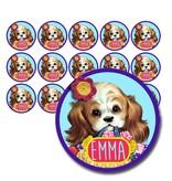 Naamsticker puppy - 90 stuks