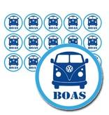 Naamsticker volkswagenbus - 90 stuks