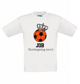 T-shirt Koningsdag voetbal met naam