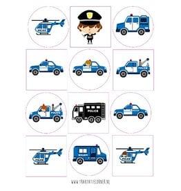 Stickers politie - 12 set