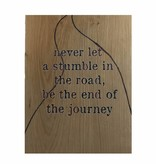 Bedrukt eikenhout - quote road