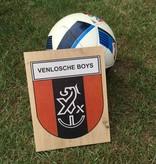 Hout bedrukt met het logo van je favoriete club