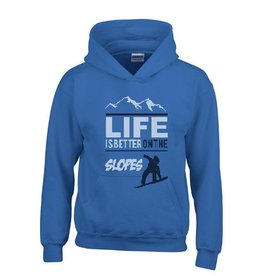 Snowboard hoodie - Life is better on the slopes