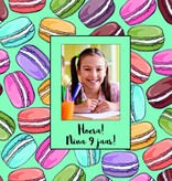 Bellenblaas Macarons met foto en tekst naar wens