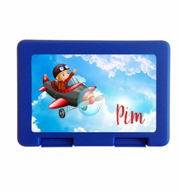 Lunchbox vliegtuig met naam