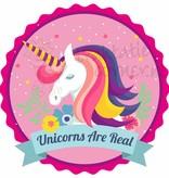 Muursticker unicorns are real met naam
