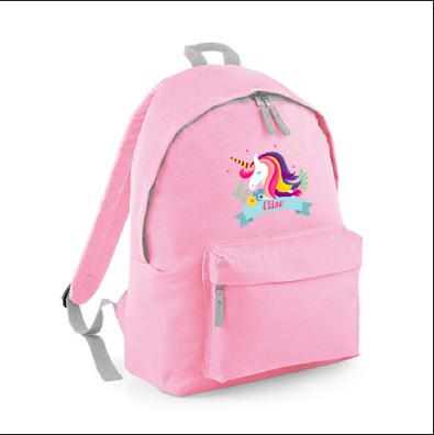 Rugzak unicorn met naam