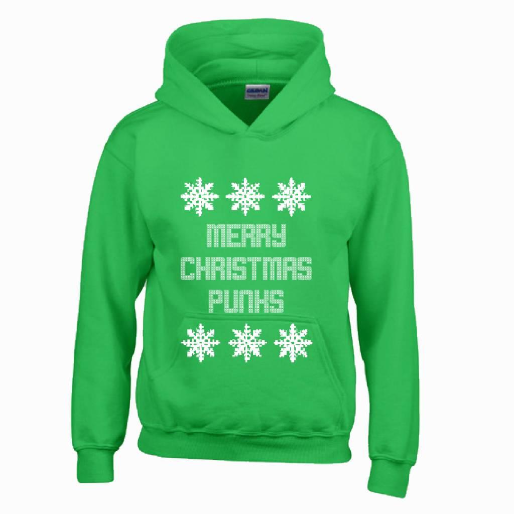 Hoodie foute kersttrui Merry Christmas punks