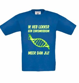Chromosoom t-shirt - blauw