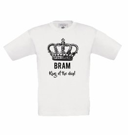 Koningsdag t-shirt king of the day met naam