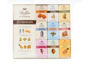 Dolfin Assortiment van 27 chocolade tabletjes in luxe doos