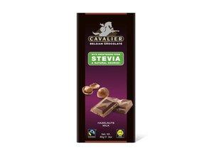 Cavalier Stevia Tablet Melkchocolade met Hazelnoot
