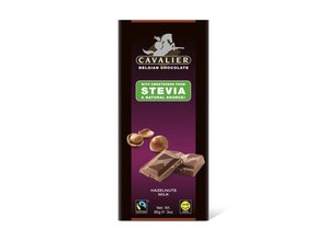 Cavalier Stevia Tablet Milk Chocolate with Hazelnut