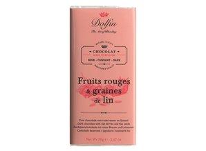 Dolfin Pure chocolade met rode bessen en lijnzaad