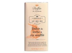 Dolfin Milk chocolate, dulce de leche and puffed rice