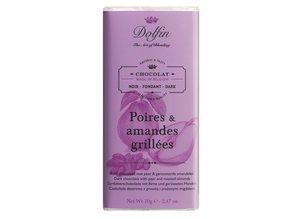 Dolfin Pure chocolade met peer & geroosterde amandelen
