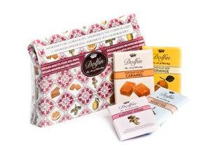 Dolfin Mix van 12 tabletjes pure & melk chocolade in pouch