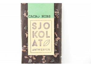 SJOKOLAT A dark chocolate bar with cocoa nibs