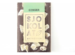 SJOKOLAT A dark chocolate bar with ginger