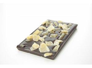 SJOKOLAT Tablet pure chocolade met gember en citroen