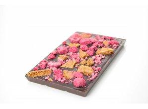 SJOKOLAT Tablet pure chocolade met speculoos en framboos