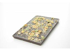 SJOKOLAT Tablet pure chocolade met wasabi pinda's