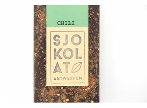 SJOKOLAT A dark chocolate bar with chili pepper