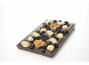 SJOKOLAT Tablet pure chocolade met studentenhaver