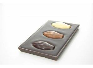 SJOKOLAT A bar of dark chocolate with Antwerp Hands