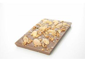 SJOKOLAT Tablet melkchocolade amandel, caramel en zeezout