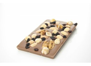 SJOKOLAT Tablet melkchocolade met studentenhaver