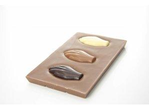 SJOKOLAT Tablet melkchocolade met Antwerpse Handjes