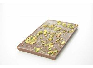 SJOKOLAT Tablet melkchocolade met pistache