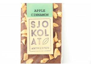 SJOKOLAT A bar of Milk Chocolate with Apple and Cinnamon