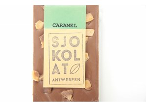 SJOKOLAT Tablet melkchocolade met stukjes caramel