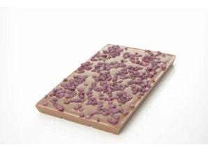 SJOKOLAT A bar of milk chocolate with Cuberdon crunch