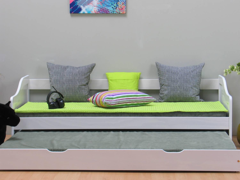 Wit tienerbed inclusief onderschuifbed en lattenbodems online meubels goedkope - Bed kind met mezzanine kantoor ...