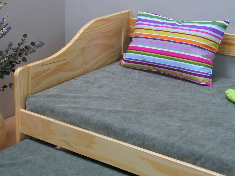 Kinderbed met onderschuifbed 90x200 cm grenen laura for 90 x 200 beds