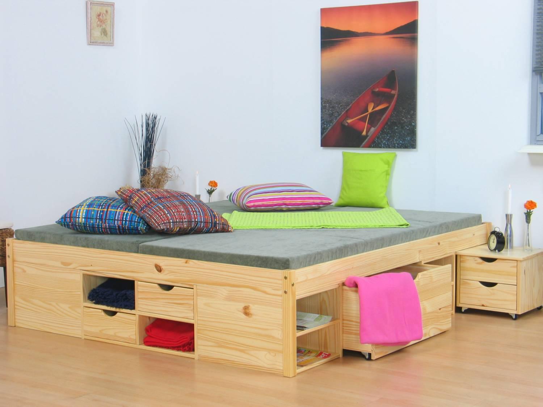 tweepersoonsbed grenen zeer compleet 140 x 200. Black Bedroom Furniture Sets. Home Design Ideas
