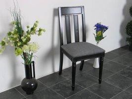 Zwarte stoel eetkamerstoel Mozart antiek patiné