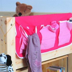 Hoogslaper decoratie hangtas met 3 zakken roze