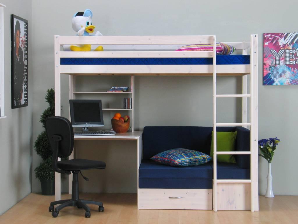 Home Hoogslapers met bureau Hoogslaper wit met bureau, bank en ...