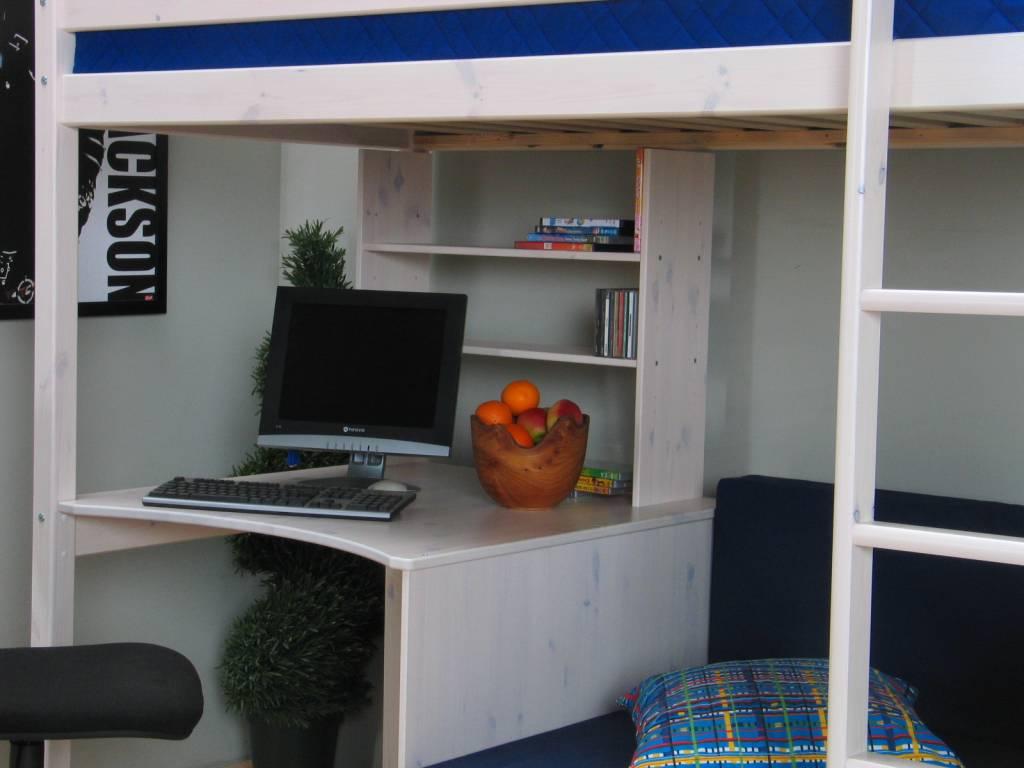 Thuka Hoogslaper wit met bureau, bank en kussenset blauw Thuka ...