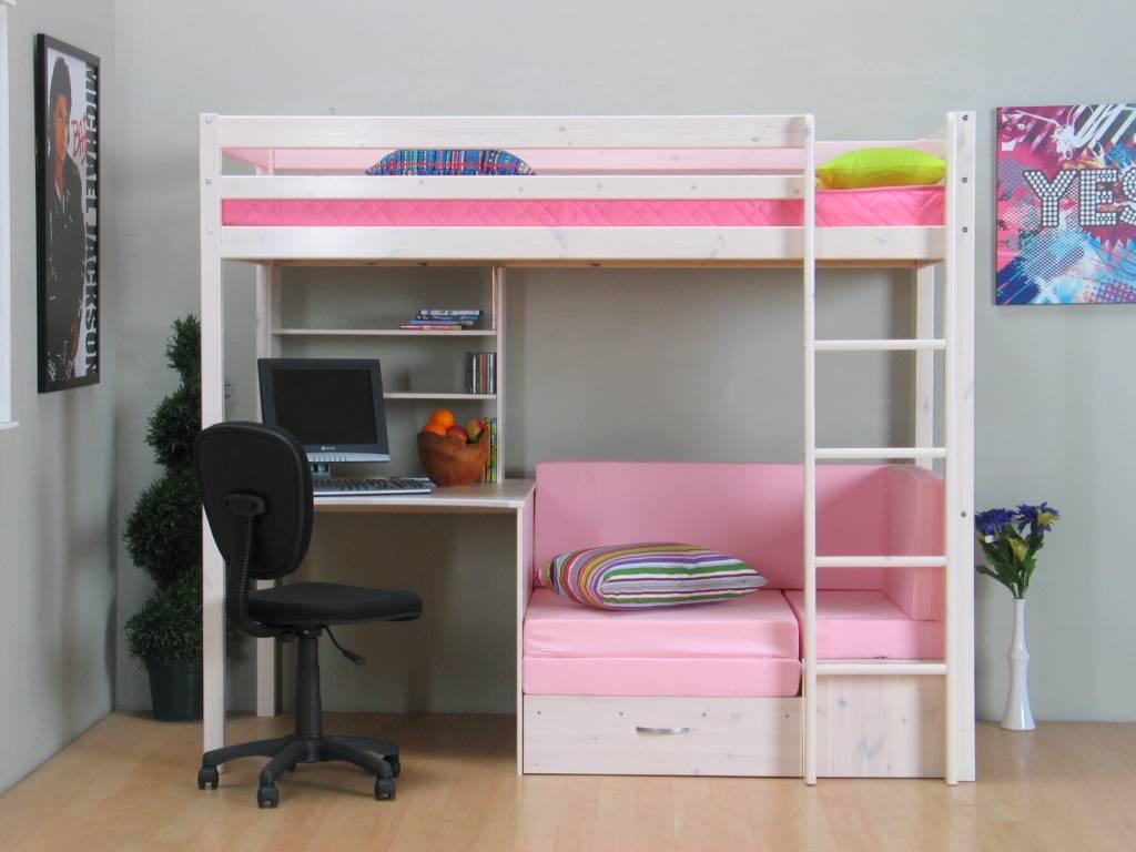 Hoogslaper inclusief onderbouw wit met roze kussens Thuka Prinses ...