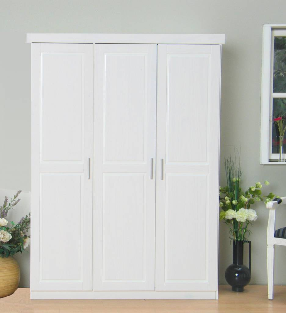 driedeurs kledingkast wit oslo  hioshop.nl  online meubels, Meubels Ideeën