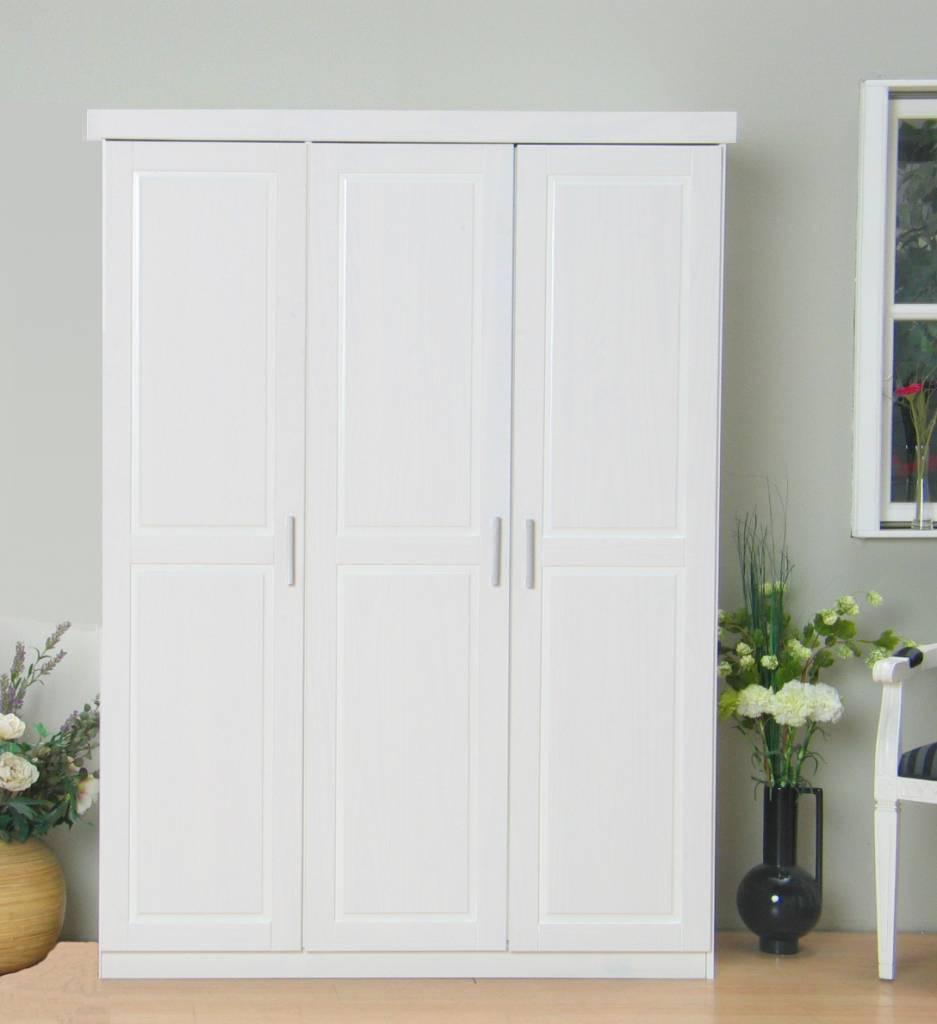 Driedeurs kledingkast wit Oslo   hioshop nl   online meubels   goedkope meubels
