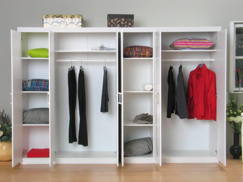 ... Kledingkasten 6 deurs kledingkast bestaande uit 2x3 drs kast Oslo wit