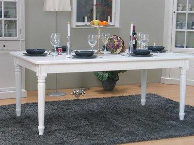Eetkamertafel Mozart wit landelijke barok tafel - hioshop ...