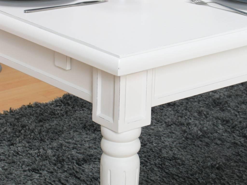 Eetkamertafel mozart wit landelijke barok tafel   hioshop.nl ...
